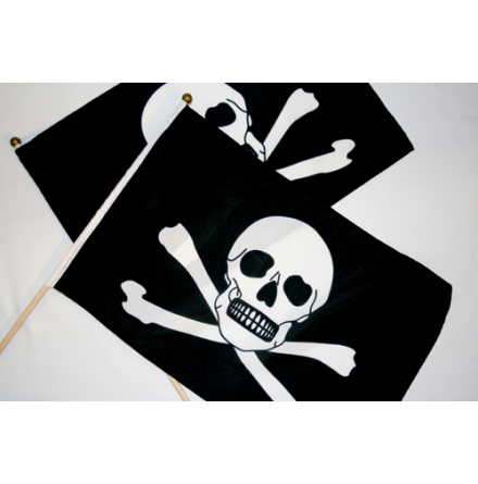 Piratflagga 30x45cm pinne