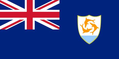 Anguilla 24 cm Bordsflagga