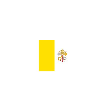 Vatikanstaten 16cm Bordsflagga
