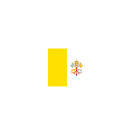 Vatikanstaten 24cm Bordsflagga