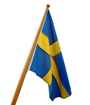 Sverige 120 cm båtflagga