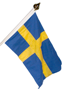 Sverige 120 cm fasadflagga