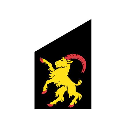 Hälsingland fasadflagga 80 cm