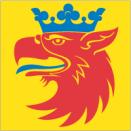 Skåne 15x15cm Bordsflagga