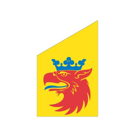 Skåne gripen fasadflagga 80cm