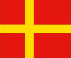 Skåne kors 24cm Bordsflagga