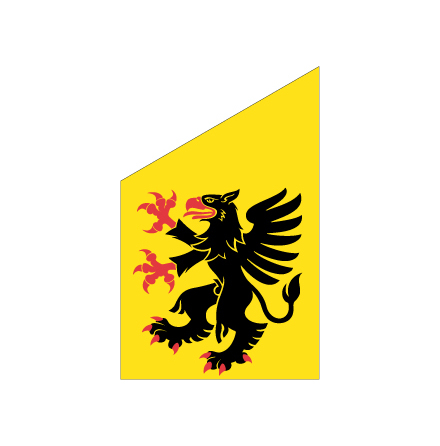 Södermanland fasadflagga 80cm