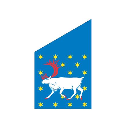 Västerbotten fasadflagga 80cm