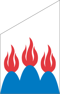Västmanland fasadflagga 80 cm