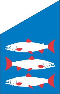 Ångermanland fasadflagga 80cm