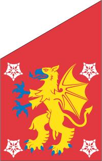 Östergötland fasadflagga 80 cm