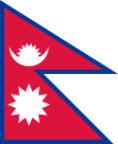 Nepal 24 cm Bordsflagga