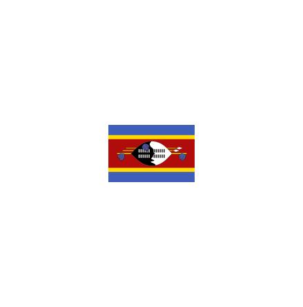 Swaziland 16 cm Bordsflagga