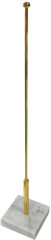 Guldstång 50cm m. marmorfot